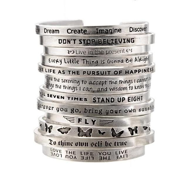 Pewter Inspiration Bangles